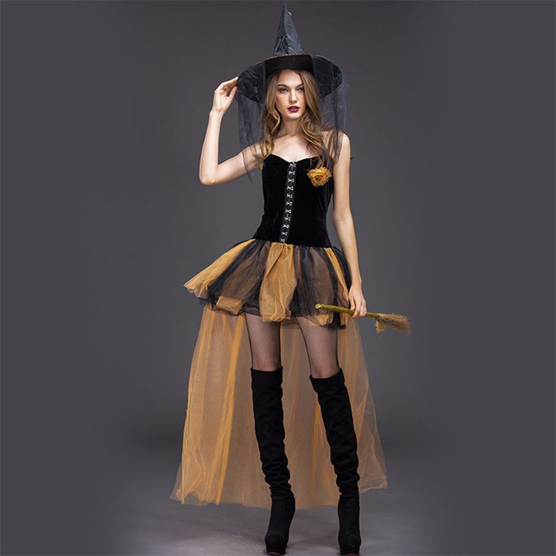 Sexy Witch Cosplay For Halloween Adult  Cosplay Jumpsuit Halloween Costume For Women