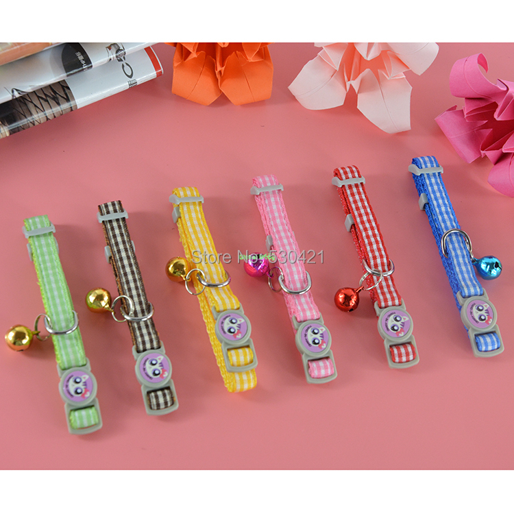 60 Pcs lot Mixed Wholease Latticed Fashion Lace Nylon Cat Collar Puppy Pet Products with