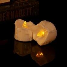 Беспламенный светодиодный Электрический мерцающий чайный светильник свечи Свадебный Рождественский Декор May06