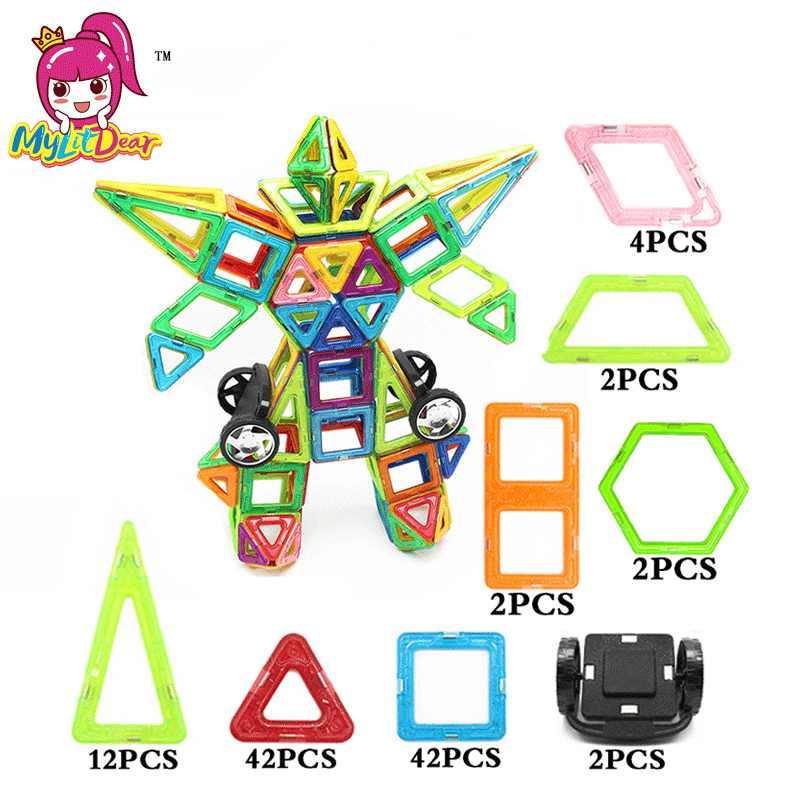 Mylitdear 108 шт. робот Магнитный конструктор строительство модель здания игрушка Пластик Магнитная Конструкторы магия образовательных Игрушечные лошадки