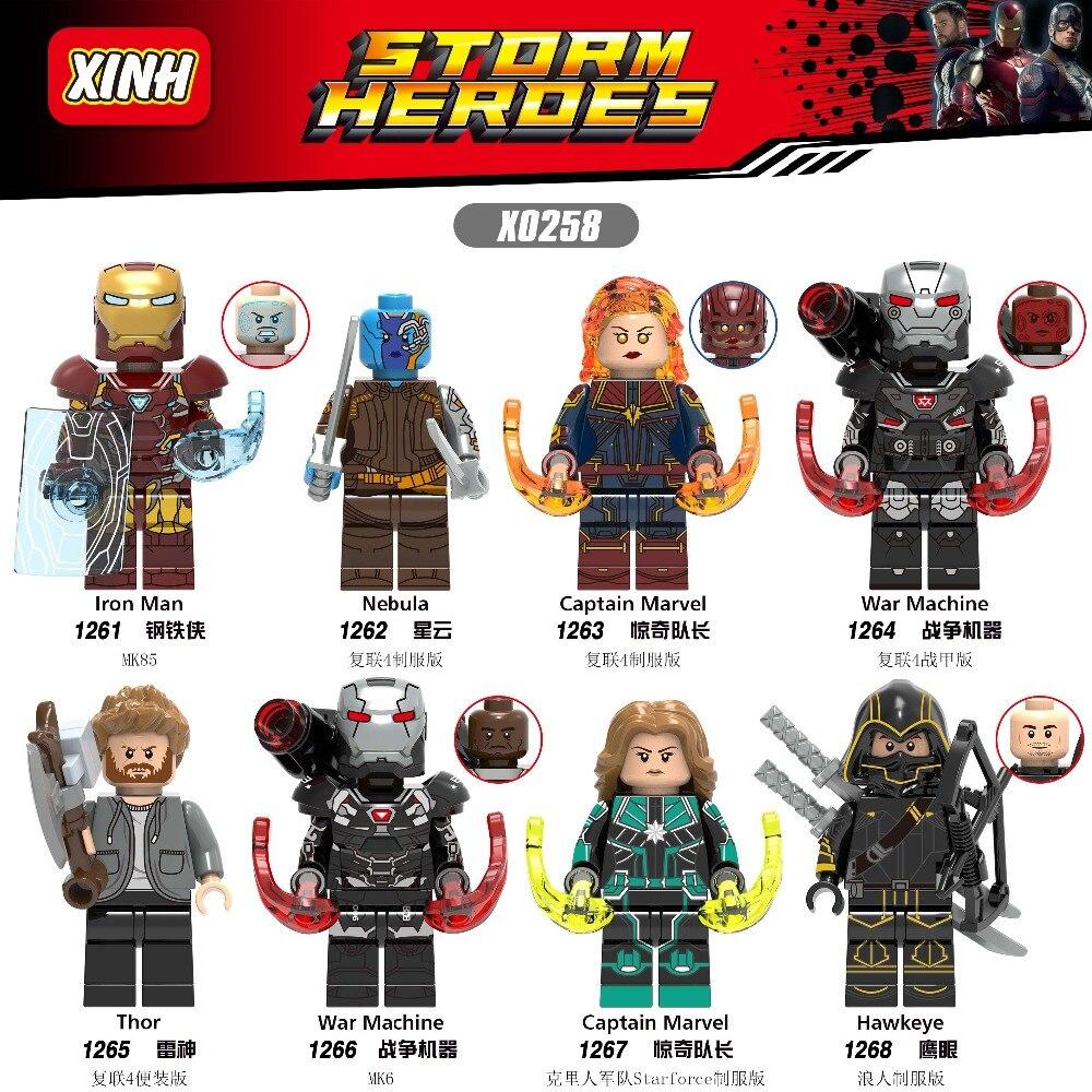 80PCS Building Blocks Infinity War EndGame war marchine hawkeye ironman Super Heroes Figures For Children Gift