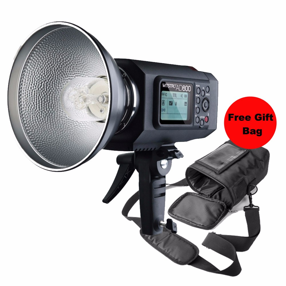 Godox Witstro AD600 600W TTL Portable Wireless Strobe Flash Godox Mount AD600 + Godox PB-600 Portable Flash Bag Case Pouch Cover godox es 600p 600w gn68 xenergizer wireless portable flash studio light lighting kit