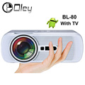 OLEY BL-80 Simplebeamer Mini LED Projector Support FULL HD 1080P HDMI/USB/AV/SD/VGA for Home Theatre PC Laptop Video Games TV