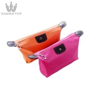 Image 5 - 10 צבעים ב 1 סט נשים נסיעות תיק קוסמטי אמבט ארגונית איפור שקיות תיק נייד מקרי נשי רוכסן פאוץ אחסון תיק