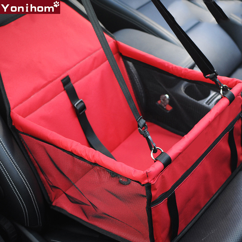 Pet dog carrier breathable car seat pad safe carry house cat puppy bag car travel accessories for Travel gear car