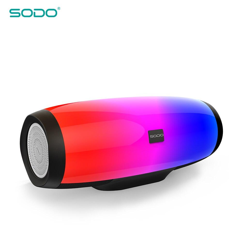 SODO L1 lumière spectacle 3D son sans fil Bluetooth haut-parleur 10W système TF FM Radio musique Subwoofer colonne haut-parleurs Bluetooth 4.2