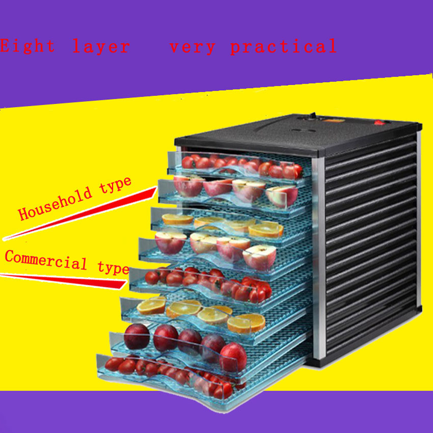 1 шт. 8 слоев фрукты сухой машина обезвоживания машина большая емкость пищевой сушильные машины