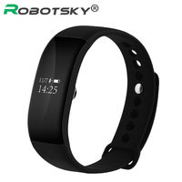 OLED Touch Screen Smart Bracelet Blood Pressure Heart Rate Monitor Passometer Wristband Call Message Reminder For