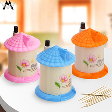 MeiJiaG Creative Automatic Toothpick Lovely House Box Fashion Personality holder Three Colors