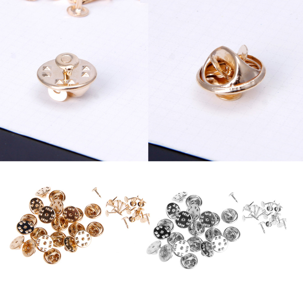afd31cbdf16a 20pcs DIY Brooch Round Clasps Pin Tie Tacks Blank Pins with Clutch Back  Sliver-in Brooches from Jewelry & Accessories on Aliexpress.com   Alibaba  Group