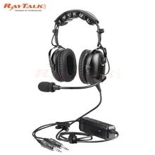 سماعة رأس مزودة بتقنية البلوتوث الطيران الطيار سماعة ، نويس النشطة تقليل ، وسادة الأذن مريحة ، دعم MP3 ، GA المقابس ، تشمل سماعة الرأس