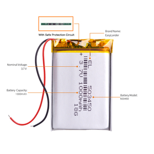 Image 3 - 503450 3.7V 1000mAh Lithium Polymer LiPo Rechargeable Battery li ion cells For Mp4 GPS DVD PAD mirror of the dvr camera recorder