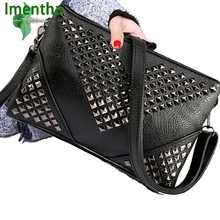 911a93c0183e Hot 2017 women shoulder bags Rivet studded crossbody bags for women purses  and handbags women leather handbags lady evening bags