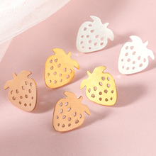 New Design Lovely Fruit Stud Earrings Funny Cute Strawberry amiable Earring For Women Kids Birthday Gifts