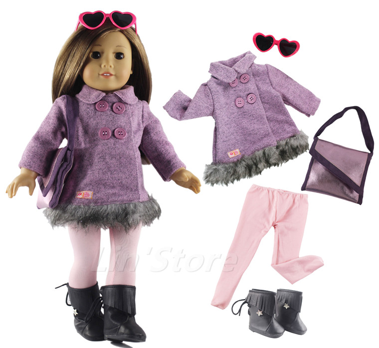 Fashion Doll Clothes Set Toy Clothing Outfit For 18 American Girl Doll Casual Clothes Many