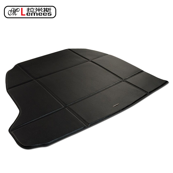 wateproof non slip car trunk mats for Cadillac CTS SRX ATS XTS in high class PU leather цена