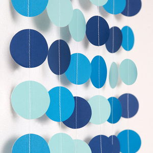 Image 3 - Blue Circle Dot Garlands Streamer for Summer Under the Sea Party Decoration Beach Ocean Bubble Hanging Bunting Banner Backdrop