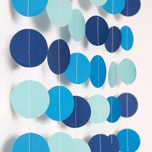 Image 3 - Mavi Daire Nokta Çelenk Flama Yaz Deniz altında Parti Dekorasyon Plaj Okyanus Kabarcık Asılı Kiraz Kuşu Afiş Zemin