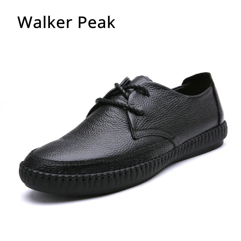 Dekesen Hot Sale Handmade High Quality Genuine Leather Men Flats Breathable Causal Shoes Slip-on Business Lazy Driving Shoes