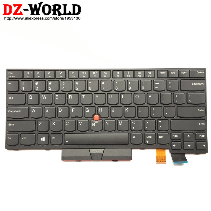 New Original Backlit Keyboard for Lenovo Thinkpad T470 Backlight US English Teclado 01AX569 01AX487 01AX528 SN20L72890 genuine new for lenovo thinkpad x1 helix 2nd 20cg 20ch ultrabook pro keyboard us layout backlit palmrest cover big enter