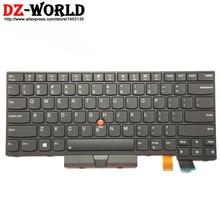 Nowy/oryg US English podświetlana klawiatura do lenovo Thinkpad T470 T480 A475 A485 podświetlenie Teclado 01AX569 01AX487 01AX528 01HX419