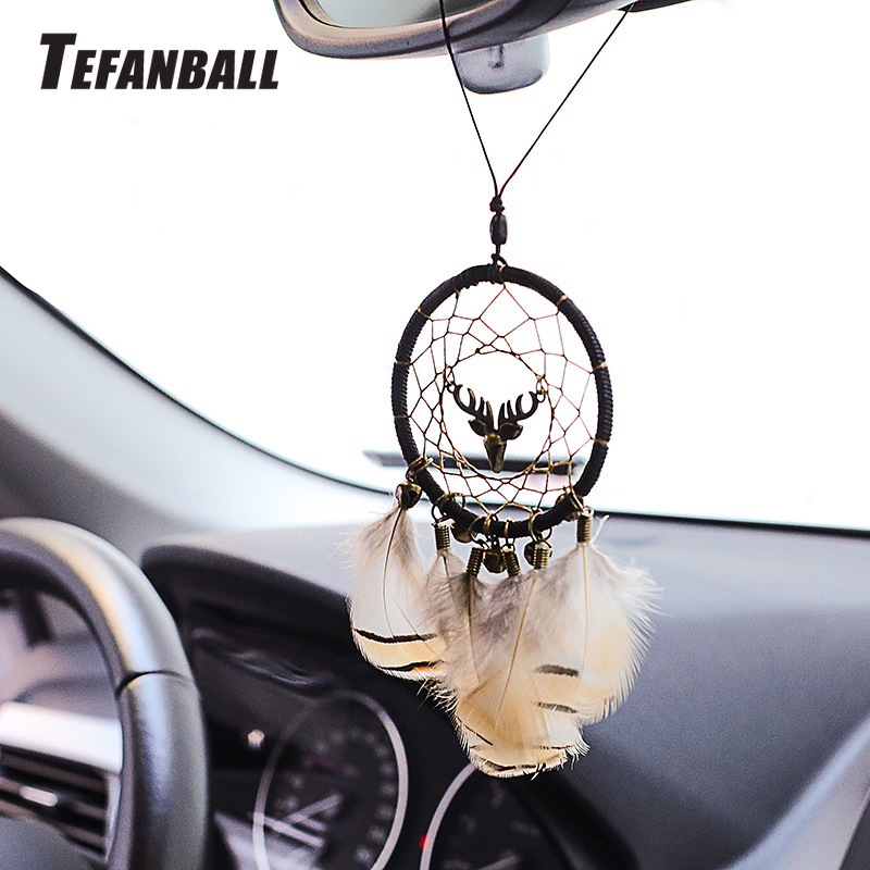 Handmade Dream Catcher Ethnic Feather DreamCatcher Home Wall car wedding Art Hangings Decorations Gift Pendant 2019-in Ornaments from Automobiles & Motorcycles