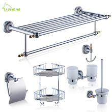 Antique Ceramic Zinc Alloy Metal Chrome Finished Wall Mount Bathroom Hardware Sets
