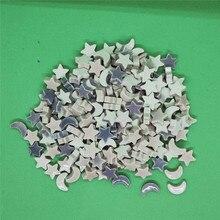 240 г/8,5 унций 50-55 шт Керамическая Мозаика DIY плитка фарфоровые материалы для художественных поделок звезда/Луна Форма мозаики камни для детей/детей