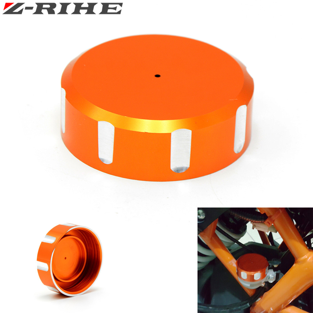Motorcycle Accessories Aluminum Rear Fluid Reservoir cover Cap Orange For KTM DUKE 125 200 390 RC 200 KTM DUKE 125 DUKE200 390 for ktm logo 125 200 390 690 duke rc 200 390 motorcycle accessories cnc engine oil filter cover cap
