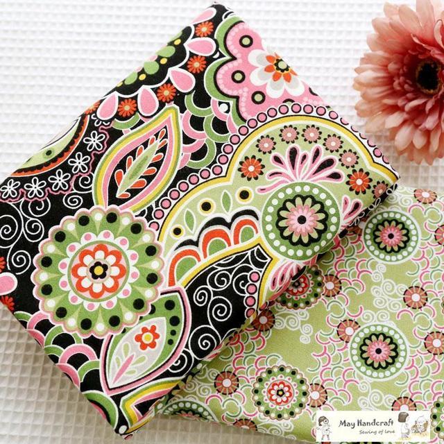 100 coton tissu patchwork coton tissus m tre de couture style japonais tissu imprim pour. Black Bedroom Furniture Sets. Home Design Ideas