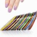 2014 новый 10 шт. разноцветные ногтей закатывает чередование линию ленты DIY ногтей советы украшения наклейки ногтями # 8802