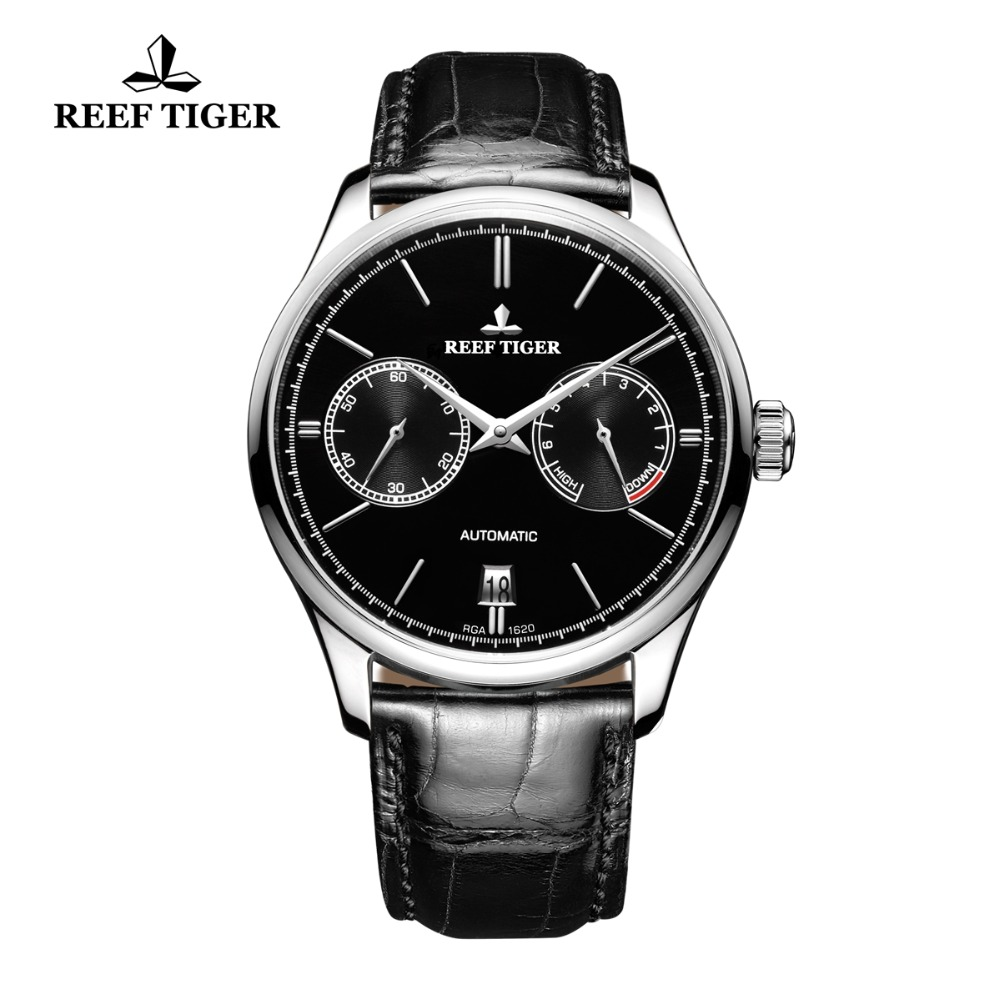 Reef Tiger/RT Elegant Business Mens Watches Perpetual Calendar Power Reserve Small Seconds Automatic Watches RGA1620 цена