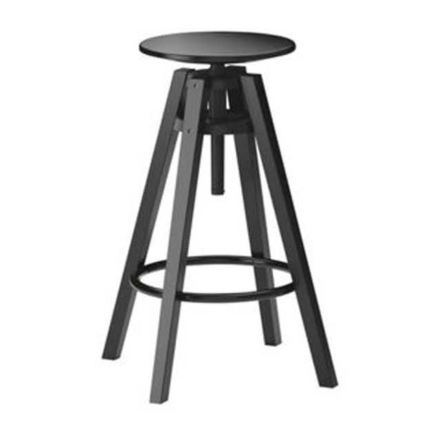 Lovely IKEA Da Fuli Black Wrought Iron Bar Stools Height Adjustable Seat American  To Do The Old