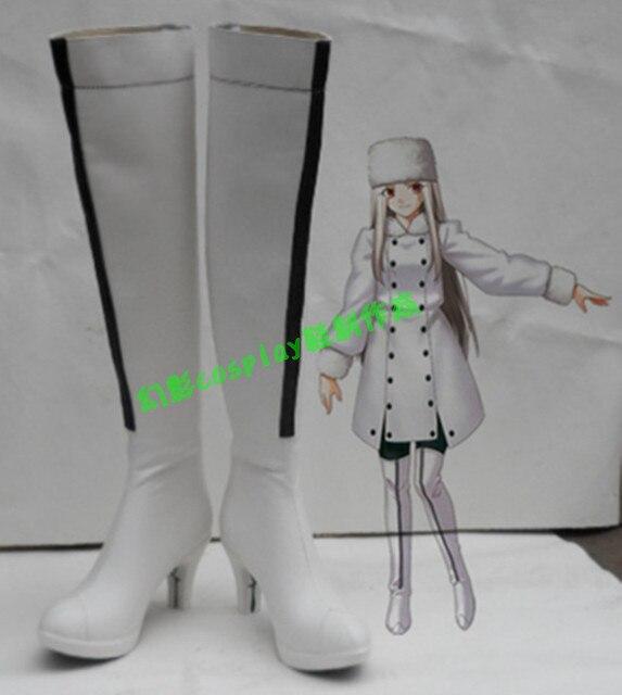 Fate Zero Irisviel von Einzbern White Halloween Long Cosplay Shoes ...