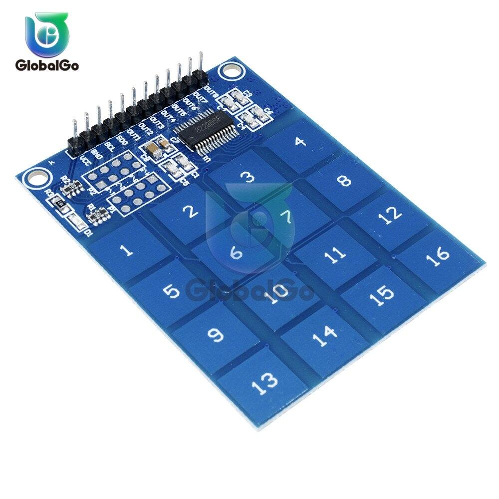 TTP224 TTP226 TTP229 цифровой сенсорный сенсор переключатель 4 8 16 клавиш канал емкостный сенсорный модуль кнопочные переключатели сенсор