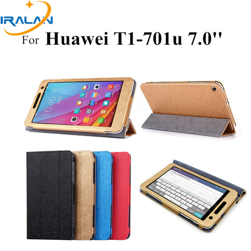 2017 NEW T1-701u flip leather case For Huawei Mediapad T1 7.0 Tablet Cover For huawei mediapad t1 7.0 t1-701w t1-701u cases+pen for huawei mediapad t1 10 case stand flip cover magnet funda for honor tablet note 9 6 t1 a21w t1 a21l t1 a23l capa coque