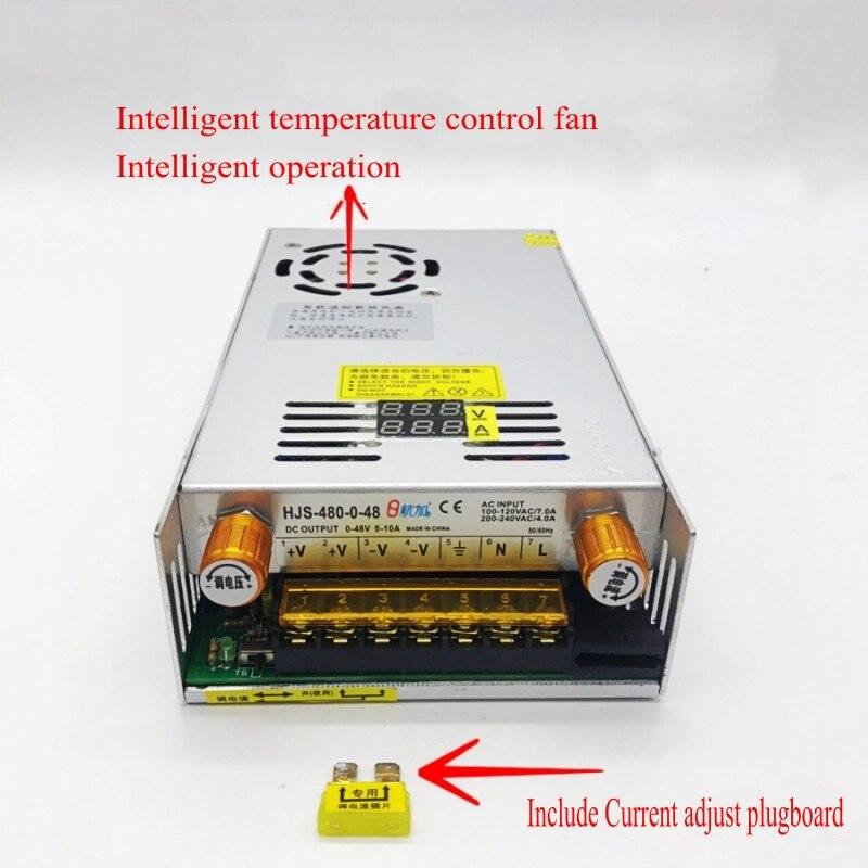 AC-DC Converter Digital display current Voltage adjustable Switch regulated power supply DC 12V 24v 36v 48v 60v 80v 120v 480W-4