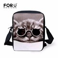 FORUDESIGNS Casual Women Mini Shoulder Bags Cute Cat Pattern Cross-body Bags For Teenager Girls Animal Messenger Blosa Feminine