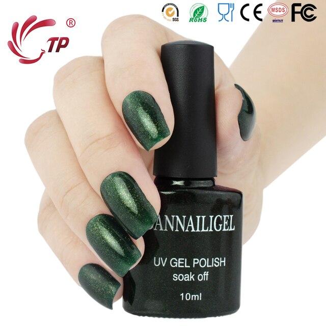 Dannail Esmeralda verde Glitter color #76 UV gel barnices Esmaltes ...
