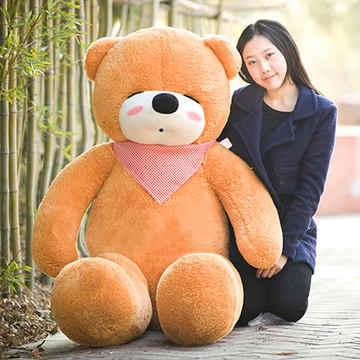 Animais empalhados 47 polegada luz marrom dormindo urso De Pelúcia boneca de brinquedo de pelúcia macia throw pillow presente w1683