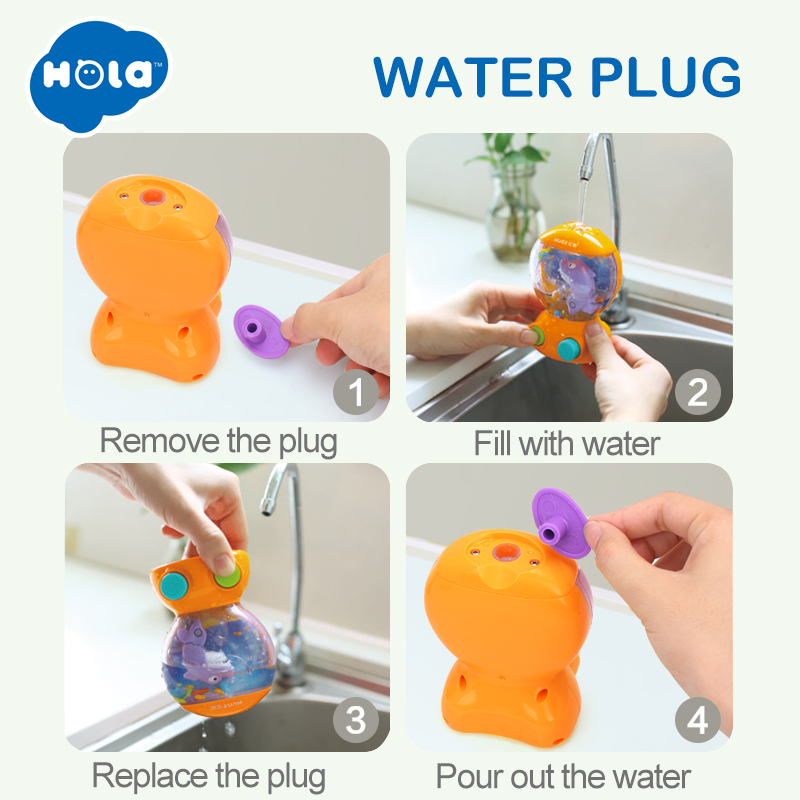 Bath Toy Bath Toys Octopus Ferrule Set Floating Small Fish Shower Room Toy For Baby Children Classic Toys