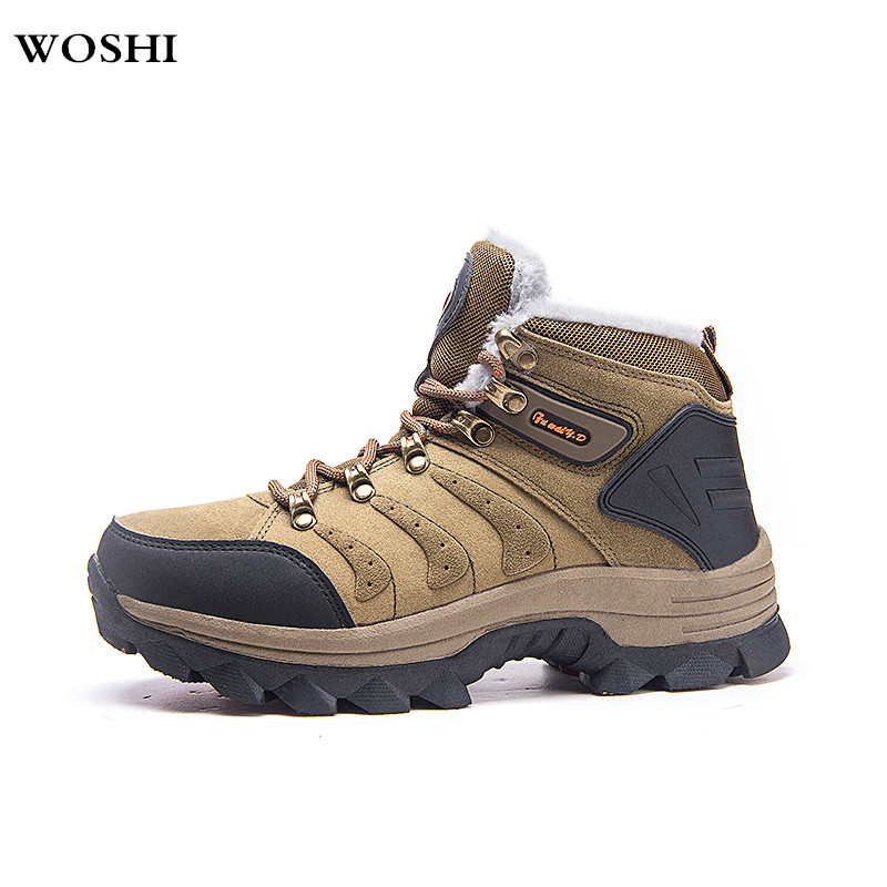 Plush Warm Winter Men Boots Anti-skidding Winter Boots Men Ankle Boots Footwear Lace Up Shoes Big Size 48 outdoor snow boots k3