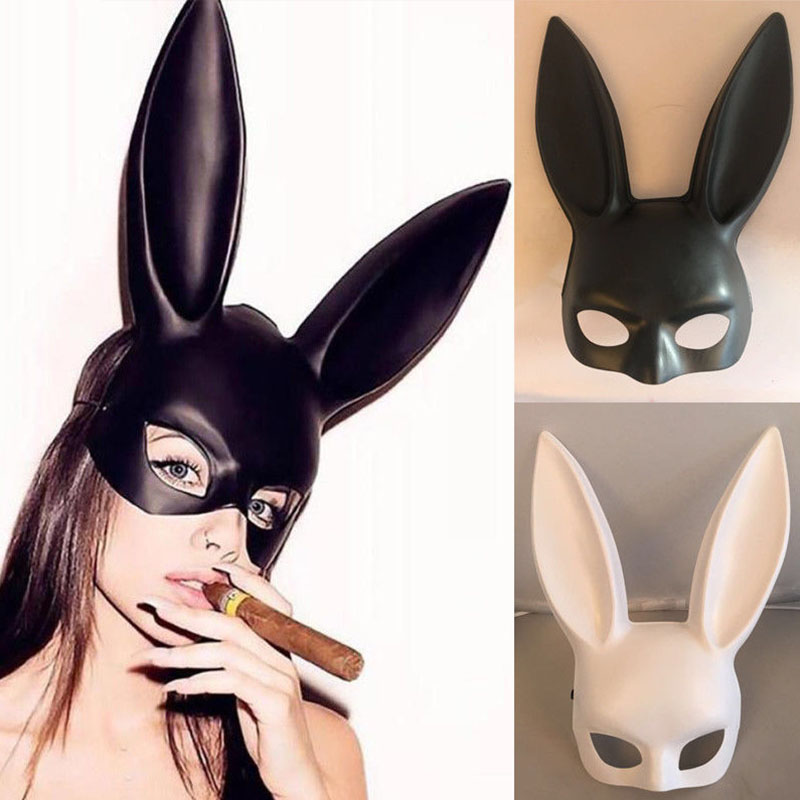 1Pc <font><b>Sexy</b></font> Bunny Ball <font><b>Mask</b></font> <font><b>Halloween</b></font> Long Ears Rabbit <font><b>Mask</b></font> for Party Costume Cosplay Masquerade image