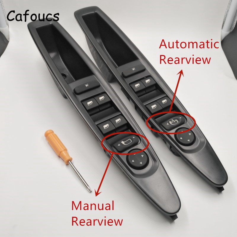 Cafoucs For Citroen C4 Window Switch Car Front Left Master Electric Power Control Switch With Rearview Mirror Buttons 9651464577 front left electric power window lifter master control switch for bmw 61319241915 6131 9241 915