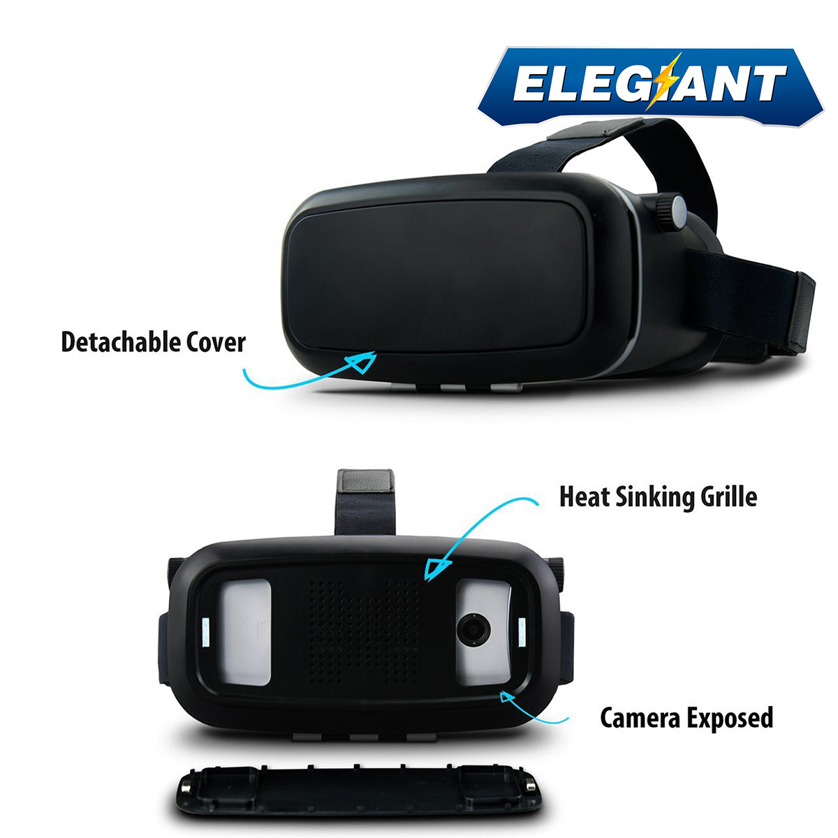 ELEGIANT Virtual Reality 360 HD Viewing Immersive 3D font b VR b font Glasses Google Cardboard