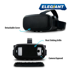 "ELEGIANTความจริงเสมือน360 HDดูที่สมจริง3D VRแว่นตาG Oogleกระดาษแข็งวิดีโอเกม3.5-6.0 ""สำหรับiPhone Android"