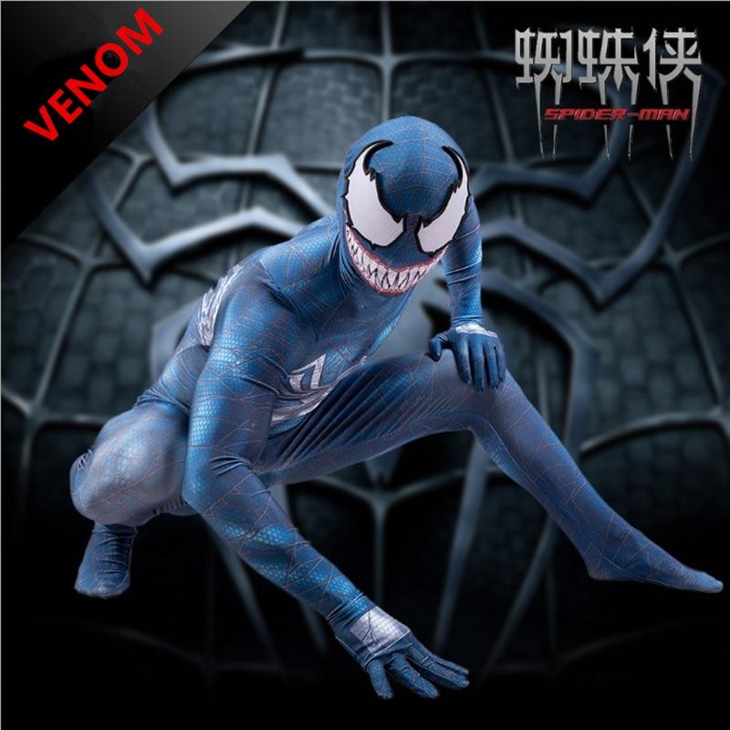 In New Spider-man The Venom Mask Cosplay Edward Dark Venom Latex Masks Helmet Halloween Party Props Brinquedos Gift Novel Design;