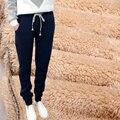 De alta Calidad de Lana Gruesa de Invierno Pantalones Mujer Pantalones Deportivos Pantalones de Las Mujeres Casual Algodón Para Mujer Pantalones de Harén pantalon femme