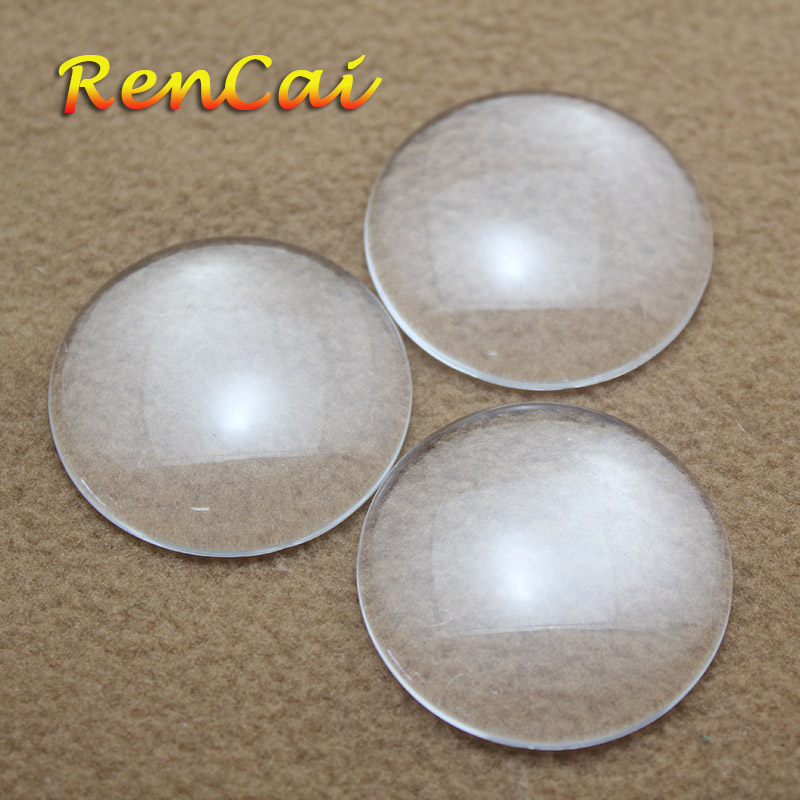 Freeshipping 25 30 33 35 38 40 45 50 60mm Round Curved Surface Glass Transparent Glass