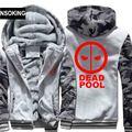 H0013 New Winter Warm Deadpool Hoodies Hooded Coat Thick Zipper men cardigan Jacket Sweatshirt